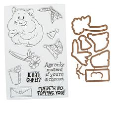 Art Impressions Hamster Mouthful 18-piece Stamp and Die Set