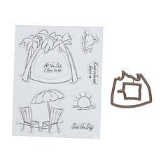 Art Impressions Mini TryFold Seas the Day 9-piece Stamp and Die Set