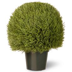 "Artificial Topiary Tree 24"" Cedar Pine in Growers Pot"