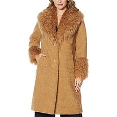 """As Is"" Adrienne Landau Mongolian Coat"