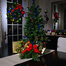 """As Is"" American Tree & Wreath 36"" Color-Changing Tree with Remote"