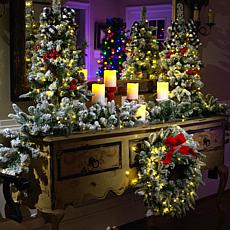 """""""As Is"""" American Tree & Wreath 36"""" Flocked Color-Changing Tree with..."""