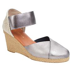 """""""As Is"""" André Assous Anouka Stretch Espadrille Wedge Sandal"""