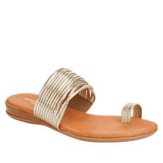 """""""As Is"""" André Assous Vira Strappy Toe Ring Flat Sandal"""