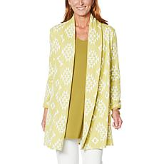 """""""As Is"""" Antthony """"All For You"""" Aztec Print Sweater Cardigan"""