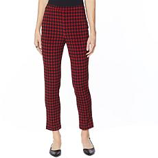 """""""As Is"""" Antthony Crystal Couture Houndstooth Pull-On Pant"""