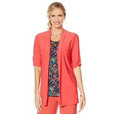 """""""As Is"""" Antthony """"Electric Color"""" Flowy Cardigan"""