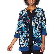 """As Is"" Antthony Printed Chiffon Combo Jacket"