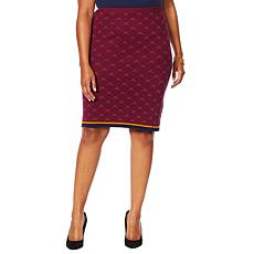 """""""As Is"""" Antthony """"Spectator Collection"""" Knit Jacquard Skirt"""