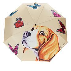 """As Is"" Anuschka Automatic Open-Close Printed Umbrella"