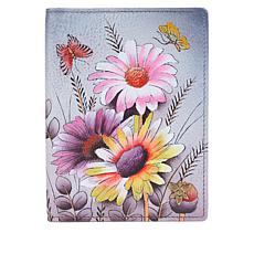 """""""As Is"""" Anuschka Hand Painted Leather Passport Cover"""