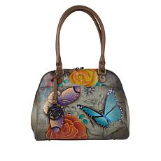 """As Is"" Anuschka Handpainted Leather Satchel"