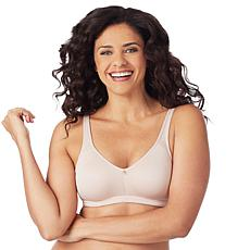 """As Is"" Aria Heavenly Soft Brushed Lace Wire-Free  Bra"