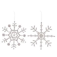 """""""As Is"""" august & leo 2-piece Handmade Snowflake Ornaments"""