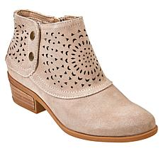 """As Is"" Baretraps® Gaige Laser-Cut Suede Bootie"