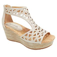 """As Is"" Baretraps® Miriam Laser-Cut Wedge Platform Sandal"