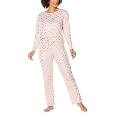 """As Is"" BEARPAW® Foil Print Brushed Poly Pajama Set"