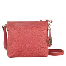"""""""As Is"""" Born Tooled Leather Crossbody"""