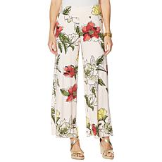 """""""As Is"""" Brittany Humble Floral-Print Jersey Knit Palazzo Pant"""