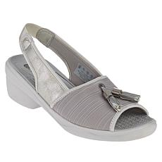 """As Is"" Bzees Mirage Washable Peep-Toe Slingback Sandal"