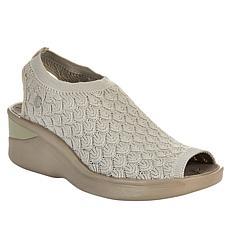"""""""As Is"""" Bzees Secret Crochet Washable Peep-Toe Sandal"""