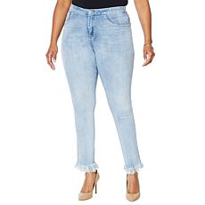 """As Is"" Cenia New York ConVi Jean with Fringed Hem"