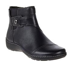"""As Is"" Clarks Collection Cora Tropic Casual Leather Ankle Boot"