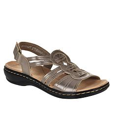 """As Is"" Clarks Collection Leisa Janna Leather Sandal"