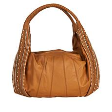 """As Is"" Clever Carriage Portofino Handcrafted Leather Hobo"