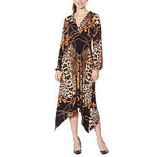 """As Is"" Coldesina Izzy Long-Sleeve Empire Waist Dress"