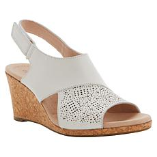 """""""As Is"""" Collection by Clarks Lafley Joy Leather Cork Wedge Sandal"""