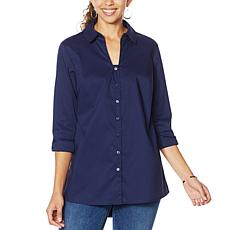 """""""As Is"""" Colleen Lopez Bow Back Button-Down Blouse"""