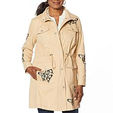 """As Is"" Colleen Lopez Butterfly Anorak Jacket with Pockets"
