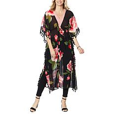 """""""As Is"""" Colleen Lopez Floral Tassel Duster"""