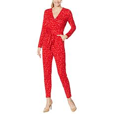 """""""As Is"""" Colleen Lopez Long-Sleeve Wrap Front Jumpsuit"""