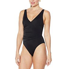 """""""As Is"""" Colleen Lopez Shirred-Front Swimsuit"""