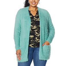 """""""As Is"""" Colleen Lopez Snuggle Knit Cozy Cardigan"""