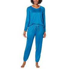"""""""As Is"""" Comfort Code Brushed Ultra Knit Pajama Set"""