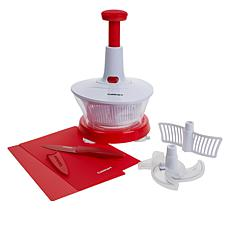 """""""As Is"""" Cuisinart 7-Cup Prep Express Set with Knife and Cutting Mats"""