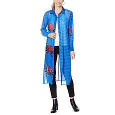 """""""As Is"""" Curations Mixed Print Woven Duster Tunic"""
