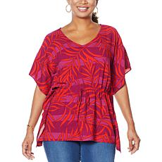 """""""As Is"""" Curations Printed Woven Caftan Top"""