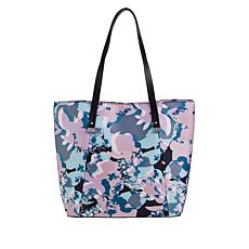 """As Is"" Danielle Nicole Printed Nylon Tote with RFID Technology"