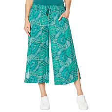 """As Is"" Democracy Printed Wide-Leg Crop Pant"
