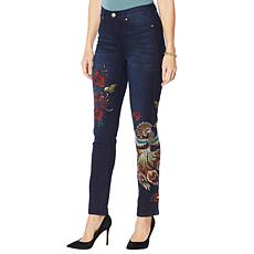"""As Is"" DG2 by Diane Gilman Classic Stretch Novelty Skinny Jean"