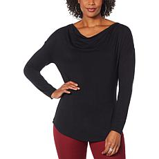 """""""As Is"""" DG2 by Diane Gilman Cowl-Neck Long-Sleeve Top"""
