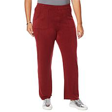 """As Is"" DG2 by Diane Gilman Lux Touch Straight-Leg Cozy Pant"