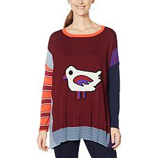 """""""As Is"""" DG2 by Diane Gilman Novelty Poncho Sweater"""