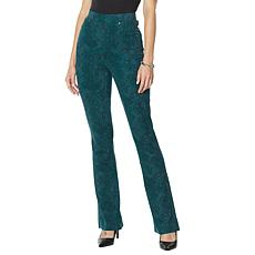 """As Is"" DG2 by Diane Gilman Pull-On Stretch Ponte Boot-Cut Pant - P..."