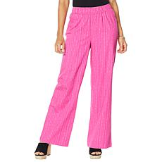 """""""As Is"""" DG2 by Diane Gilman  SoftCell Denim Wide-Leg Pant - Fashion"""