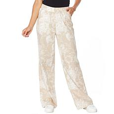 """As Is"" DG2 by Diane Gilman  SoftCell Denim Wide-Leg Pant - Fashion"